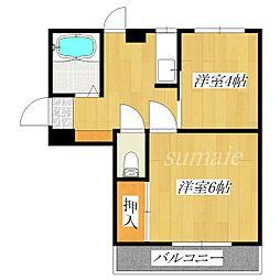 あずまマンション[101号室]の間取り