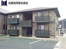 愛知県豊橋市大岩町字本郷の賃貸アパートの外観