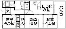 長楽ビル[8階]の間取り