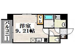 JR鹿児島本線 吉塚駅 徒歩6分の賃貸マンション 7階ワンルームの間取り