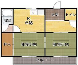 辻野コーポ[7号室]の間取り