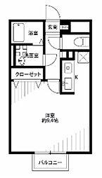 埼玉県さいたま市見沼区大和田町1の賃貸アパートの間取り