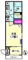 大岡山サンハイムA[1階]の間取り