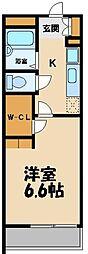 東武越生線 武州長瀬駅 徒歩3分の賃貸アパート 3階1Kの間取り