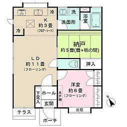 東京都練馬区関町南1丁目の賃貸アパートの間取り