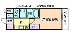 フレアコート梅田[13階]の間取り