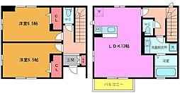 [テラスハウス] 千葉県市川市須和田1丁目 の賃貸【千葉県 / 市川市】の間取り
