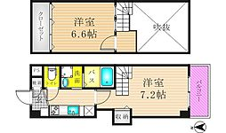 リバーライズ東小橋II[7階]の間取り