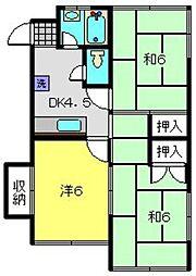 高水ビル[2階]の間取り