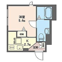 グランメゾン 神楽坂 1階1Kの間取り