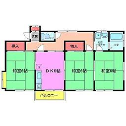 ユアサハイツNO2[2階]の間取り