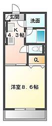 メゾン・ド・ジョバーニ[3階]の間取り