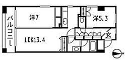 シュベリュール[2階]の間取り
