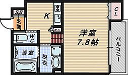 Luxe浜寺A棟[2階]の間取り