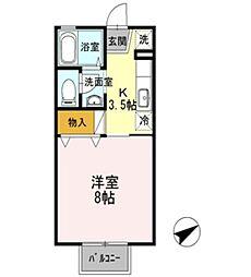 セジュール文政 B棟[2階]の間取り