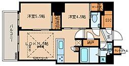 文京ガーデン ザ サウス 13階2LDKの間取り
