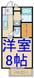 ソレジオM B[2階]の間取り
