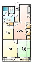 愛知県豊田市京ケ峰1丁目の賃貸アパートの間取り
