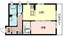 Maison de Kafuu 2階1LDKの間取り