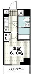 レガーロ吉野町 4階1Kの間取り