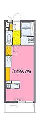 JR埼京線 北与野駅 徒歩11分の賃貸マンション 3階ワンルームの間取り