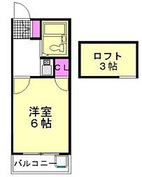 JR武蔵野線 新座駅 徒歩14分の賃貸アパート 1階1Kの間取り