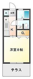 コーポ澤田[1階]の間取り