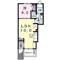 ルピナス鎌倉[1階]の間取り