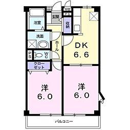 愛知県岡崎市広幡町の賃貸アパートの間取り
