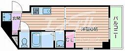 JR東海道・山陽本線 吹田駅 徒歩7分の賃貸マンション 4階1Kの間取り