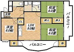 マンション津坂[3階]の外観