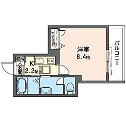 仮)新宿区中落合2丁目SHM 1階1Kの間取り