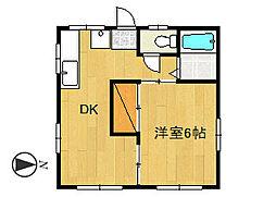 コーポ飯田D棟[201号室]の間取り