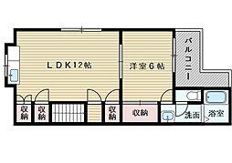 清澄苑[2階]の間取り