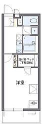 近鉄大阪線 恩智駅 徒歩3分の賃貸マンション 3階1Kの間取り
