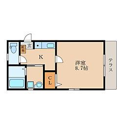 滋賀県守山市水保町の賃貸アパートの間取り
