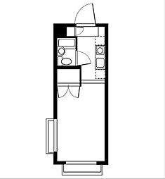 エスポワール洋庵[1階]の間取り