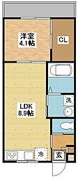 長崎県長崎市新戸町3丁目の賃貸アパートの間取り