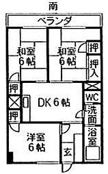 古賀第1ビル[403号室]の間取り
