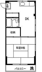 コーポ YOSHII[301号室]の間取り