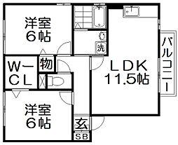 ソフィアコートA棟[1階]の間取り