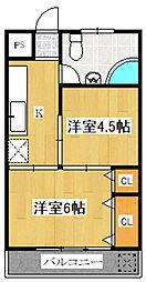 染井マンション[305号室]の間取り