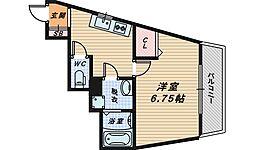 大阪府堺市西区浜寺諏訪森町東2丁の賃貸アパートの間取り