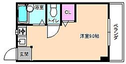 シャンテー三矢2[4階]の間取り