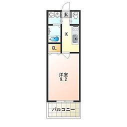レクラン七道[10階]の間取り