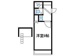 神奈川県綾瀬市寺尾台2丁目の賃貸アパートの間取り
