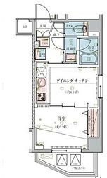 リヴシティ飯田橋 3階1DKの間取り