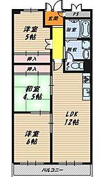 野江センチュリーマンション[3階]の間取り