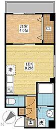 長崎県長崎市今博多町の賃貸マンションの間取り