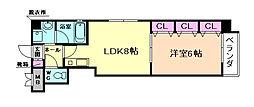 クリーデンス福島[4階]の間取り